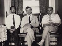 Делегация ДВР на Вашингтонскую конференцию. Слева направо Караваев П.Н., Языков А.А., Сквирский. Июль 1922 г.