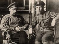 А.А. Языков и А.А. Языков-младший. 27 июня 1919 г. Москва, перед выездом на Южный фронт